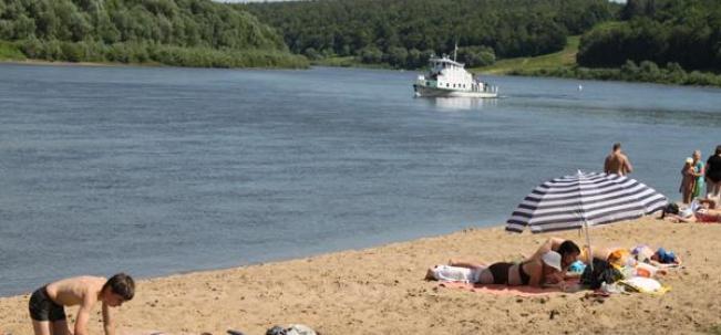 Пляж на Оке