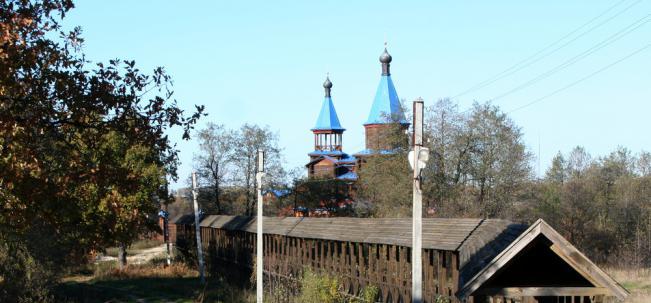 крытый мост к храму