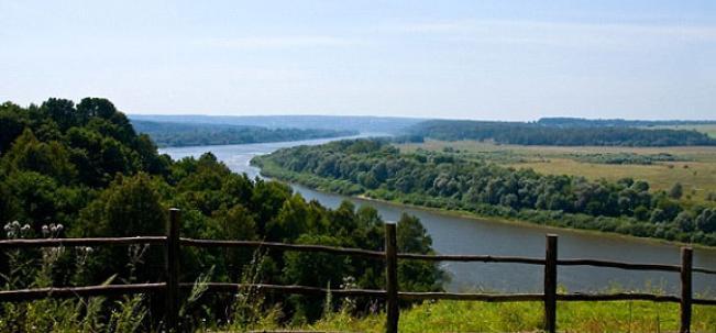 река Ока с бёховского кладбища